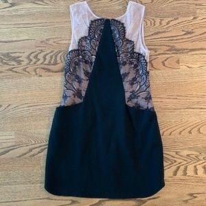 Nude & Black Lace BCBG Cocktail Dress